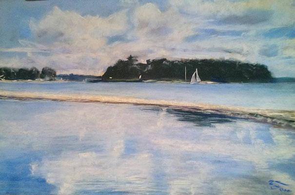 Ochseninseln, Pastell 40 x 50