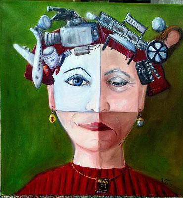 die Schauspielerin 50 x 50 Öl