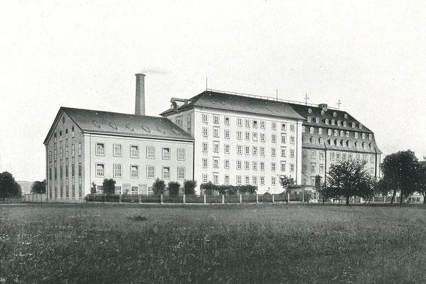 """Bildquelle: """"100 Jahre Baumwollspinnerei"""", Flöha, 1909"""