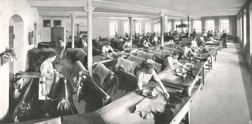 """Bildquelle: """"Erinnerungsblätter zur Feier des 75jährigen Bestehens der Lederwerke Heinrich Bierling GmbH in Dresden u. Bockwitz"""", Dresden, 1910"""