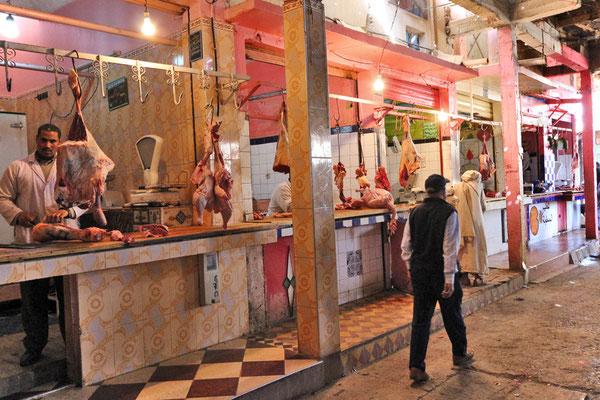 Fleischergasse im Markt von Rissani