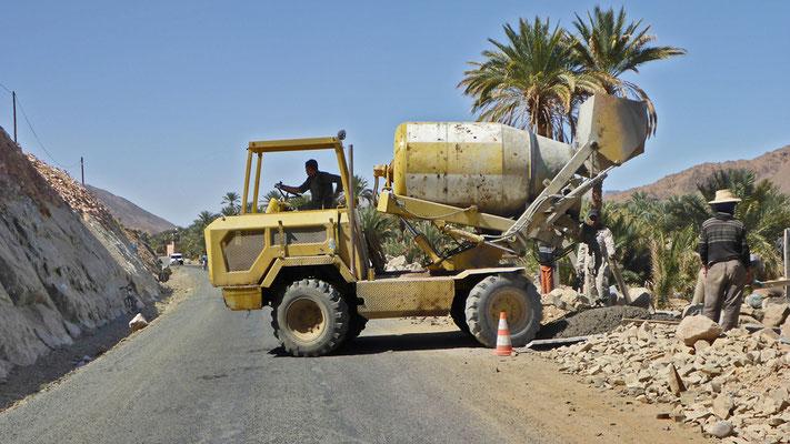Bauarbeiten an der N9 bei Tansikhte