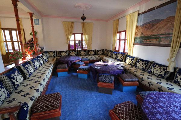 Speisesaal in der Auberge Camping Toubkal in Taliouine