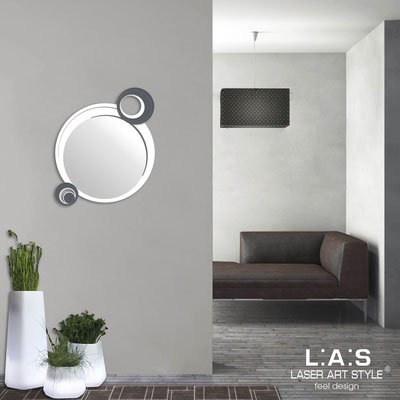Mirrors </br> Code: SI-320 | Size: 60x70 cm </br>  Colour: white-charcoal grey-matched engraving