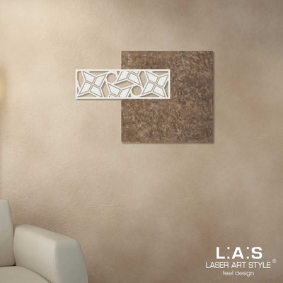 Abstract wall sculptures </br> Code: SI-351 | Size: 75x50 cm </br> Colour: lava decoration-cream-wood engraving