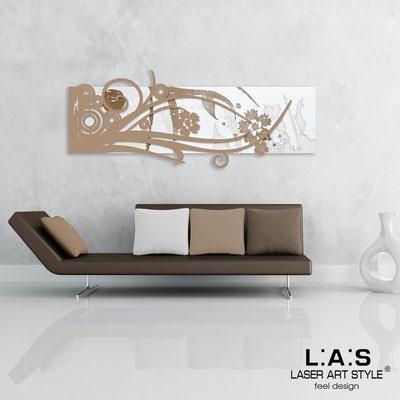 Quadri Astratti </br> Codice: SI-106 | Misura: 148x60 cm </br> Colore: bianco-nocciola-incisione legno