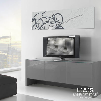 Abstract wall sculptures </br> Code: SI-109-B | Size: 180x58 cm </br> Colour: light grey-grey decoration-matched engraving