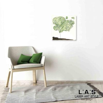 Quarantotto </br>  Codice: Q-001 | Misura: 48x48 cm </br> Colore: decoro verde-incisione legno
