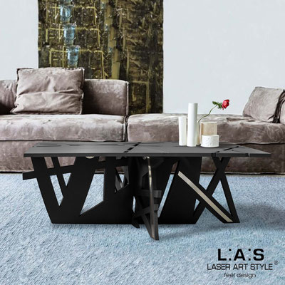 Furnishings </br> Code: SI-295   Size: 100x60 h40 cm </br> Colour: black-inox steel-matched engraving