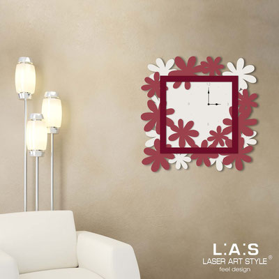 Wall clocks </br> Code: SI-207 | Size: 70x70 cm </br> Colour: cream-violet red-burgundy
