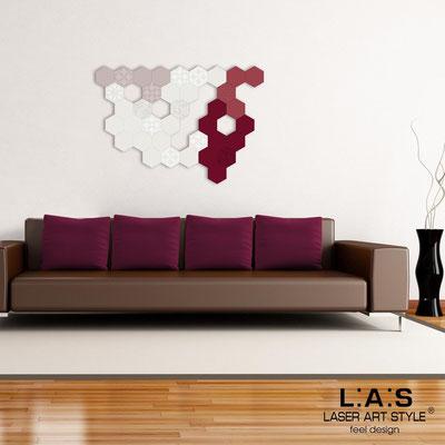 Quadri Astratti </br> Codice: SI-300 | Misura: 125x88 cm </br> Colore: cipria-panna-rosso violetto-bordeaux-incisione tono su tono
