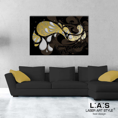 Abstract wall sculptures </br> Code: SI-213 | Size: 150x100 cm </br> Colour: gold-black-wood engraving
