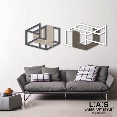Quadri Astratti </br> Codice: SI-308 | Misura: 2pz 180x60 cm </br> Colore: antracite-bianco-incisione legno