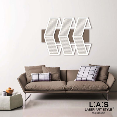 Abstract wall sculptures </br> Code: SI-307 | Size: 125x90 cm </br> Colour: dove grey-white-wood engraving