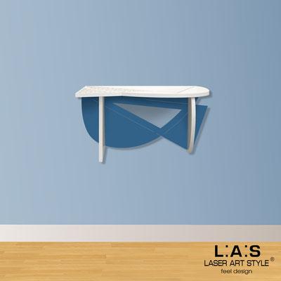 Complementi d'arredo </br> Codice: SI-380 | Misura: 60x30 cm </br> Colore: bianco-blu distante-incisione legno