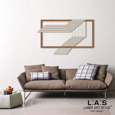 Abstract wall sculptures </br> Code: SI-306 | Size: 120x75 cm </br> Colour: white-bronze-wood engraving