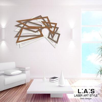 Abstract wall sculptures </br> Code: SI-186 | Size: 140x90 cm </br> Colour: cream-dove grey-bronze
