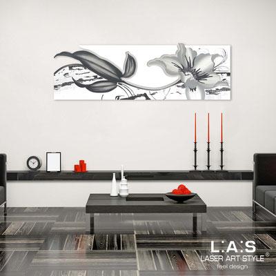 Quadri Floreali </br>  Codice: SI-074-B   Misura: 180x65 cm </br>  Colore: bianco-bianco-decoro grigio-incisione tono su tono
