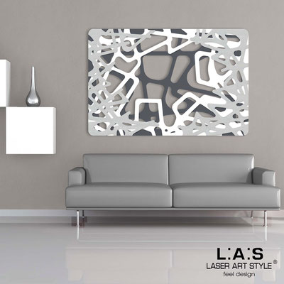 Abstract wall sculptures </br> Code: SI-144 | Size: 150x100 cm </br> Colour: charcoal grey-white-silver