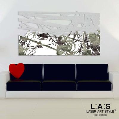 Quadri Astratti </br> Codice: SI-149 | Misura: 2pz 180x100 cm </br> Colore: argento-bianco-incisione nero