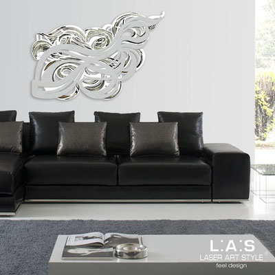 Abstract wall sculptures </br> Code: SI-171 | Size: 150x100 cm </br> Colour: white-silver-black engraving