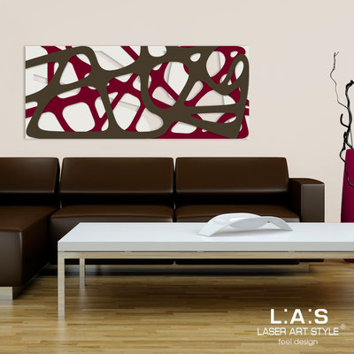 Abstract wall sculptures </br> Code: SI-159 | Size: 140x58 cm </br> Colour: cream-burgundy-brown