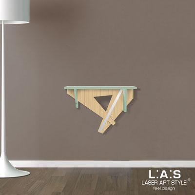 Complementi d'arredo </br> Codice: MW-290 | Misura: 60x30 cm </br> Colore: grigio verde-natural wood-acciaio inox-incisione tono su tono