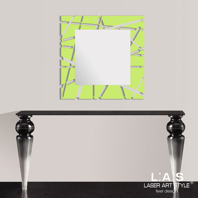 Mirrors </br> Code: SI-095Q-SP | Size: 90x90 cm </br>  Colour: lime-inox steel