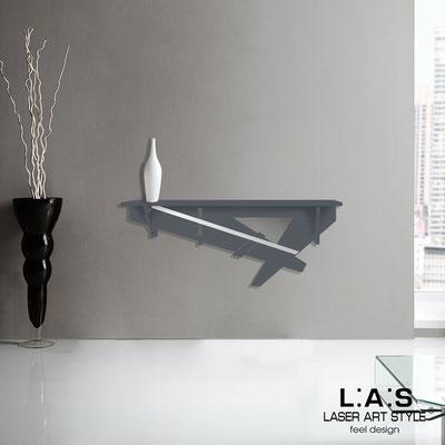 Complementi d'arredo </br> Codice: SI-291 | Misura: 110x30 cm </br> Colore: antracite-acciaio inox -incisione tono su tono