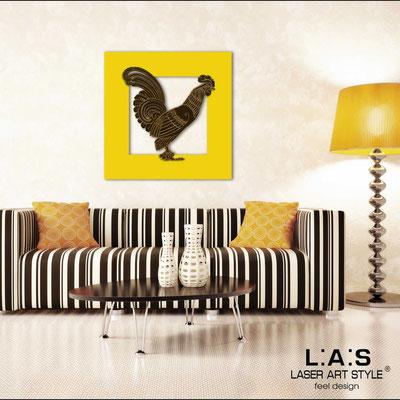 Quadri Figurativi </br> Codice: SI-128BQ | Misura: 90x90 cm </br> Codice: SI-128BQ-S | Misura: 45x45 cm </br> Colore: giallo-marrone-incisione legno