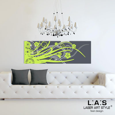 Abstract wall sculptures </br> Code: SI-107-B | Size: 148x50 cm </br> Colour: charcoal grey-lime
