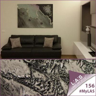 Abitazione privata | Italia </br> Codice: SI-257 | Misura: 150x100 cm </br> Colore: decoro stucco toni freddi