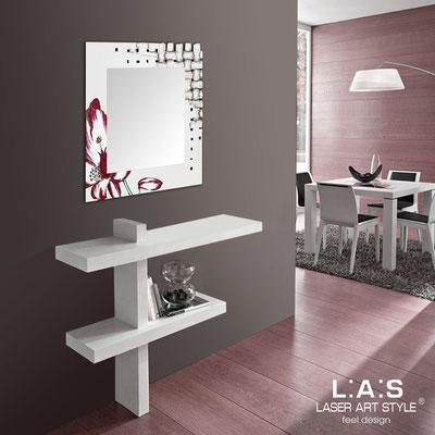 Mirrors </br> Code: SI-075Q-SP | Size: 90x90 cm </br>  Colour: cream-cherry decoration-wood engraving