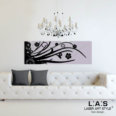 Abstract wall sculptures </br> Code: SI-107-B | Size: 148x50 cm </br> Colour: wistaria-black