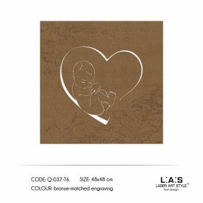 News </br>  Code: Q-037-T6 | Size: 48x48 cm </br> Colour: bronze-matched engraving