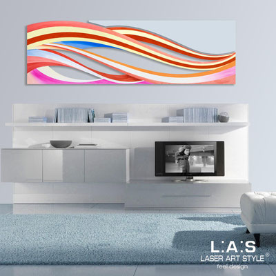 Abstract wall sculptures </br> Code: SI-114C | Size: 2pz 180x55 cm/cad </br> Colour: multicoloured decoration-grey light blue-wood engraving