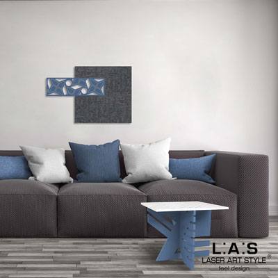 Abstract wall sculptures </br> Code: SI-351 | Size: 75x50 cm </br> Colour: concrete decoration-denim-wood engraving