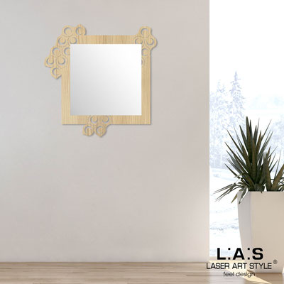 Specchiere </br> Codice: W-420 | Misura: 90x90 cm </br>  Colore: natural wood
