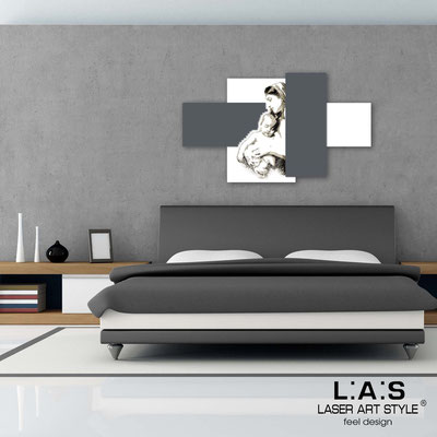 Sacred wall sculptures </br> Code: SI-162 | Size: 120x70 cm </br> Colour: white-charcoal grey-black engraving