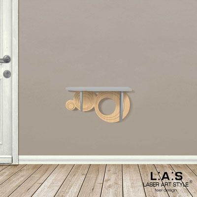Complementi d'arredo </br> Codice: MW-278 | Misura: 60x30 cm </br> Colore: cemento-natural wood-incisione legno