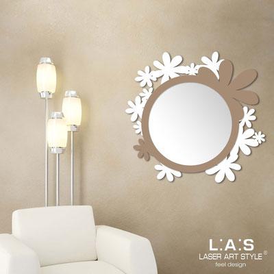 Mirrors </br> Code: SI-206Q-SP | Size: 93x87 cm </br>  Colour: white-hazel