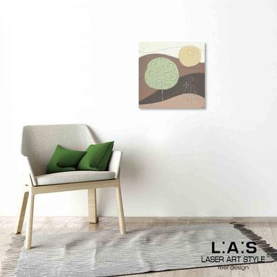 Quarantotto </br>  Codice: Q-014 | Misura: 48x48 cm </br> Colore: decoro verdone-incisione legno