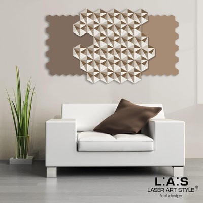 Abstract wall sculptures </br> Code: SI-142 | Size: 125x70 cm </br> Colour: dove grey-hazel-cream-wood engraving