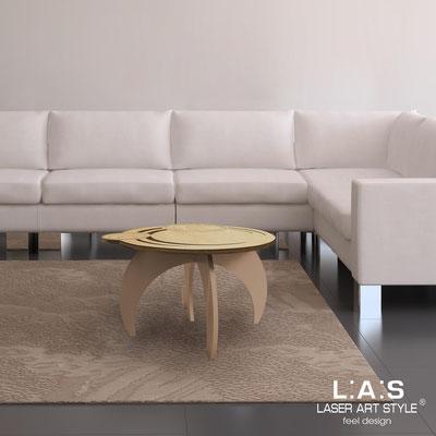 Complementi d'arredo </br> Codice: MW-282 | Misura: 60x60 h40 cm </br> Colore: natural wood-nocciola-incisione legno