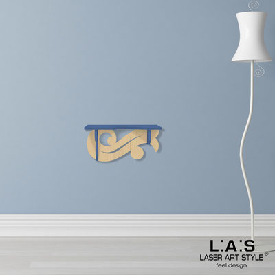 Complementi d'arredo </br> Codice: MW-284 | Misura: 60x30 cm </br> Colore: blu distante-natural wood
