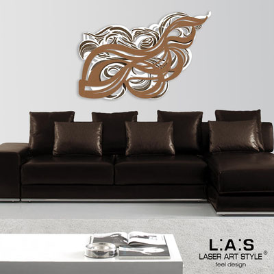 Abstract wall sculptures </br> Code: SI-171 | Size: 150x100 cm </br> Colour: white-bronze-wood engraving