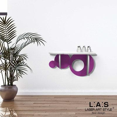 Complementi d'arredo </br> Codice: SI-278 | Misura: 60x30 cm </br> Colore: bianco-violetto-incisione tono su tono
