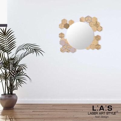 Specchiere </br> Codice: MW-311 | Misura: 90x75 cm </br>  Colore: natural wood-cipria-incisione legno
