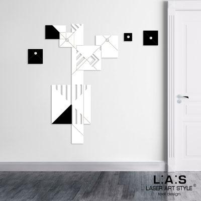 Complementi d'arredo </br> Codice: SI-366 | Misura: 90x150 cm </br> Colore: bianco-nero-incisione legno