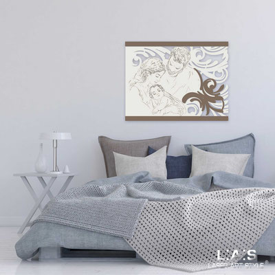 Sacred wall sculptures </br> Code: SI-327L | Size: 65x50 cm </br> Code: SI-327XL | Size: 110x80 cm </br>  Colour: cream-dove grey-wood engraving